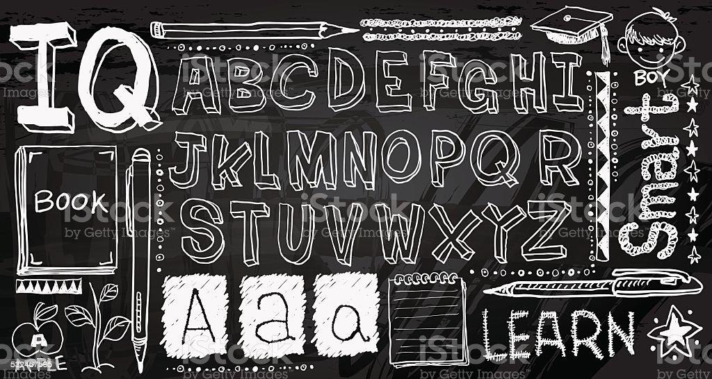Handwritting colección - ilustración de arte vectorial
