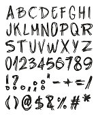 Handwritting Distorted Font