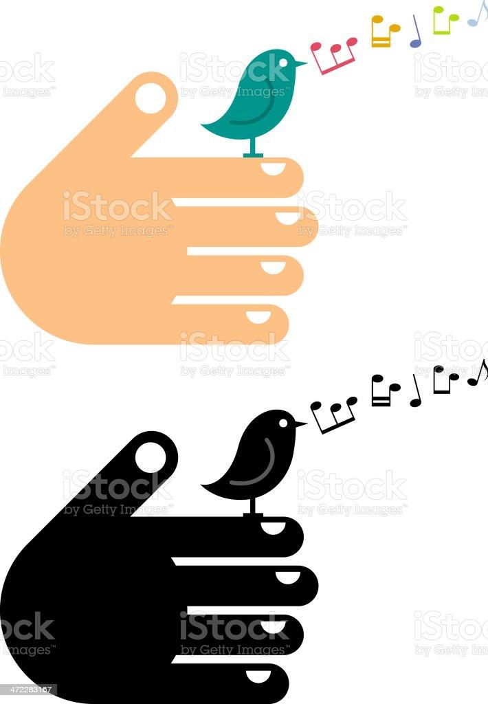 Handy bird vector art illustration