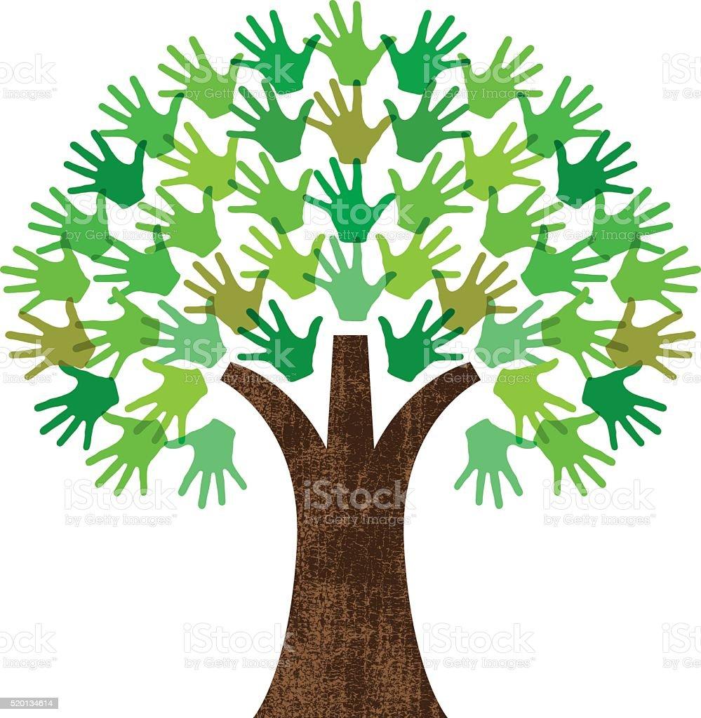 Práctico gráfico árbol - ilustración de arte vectorial