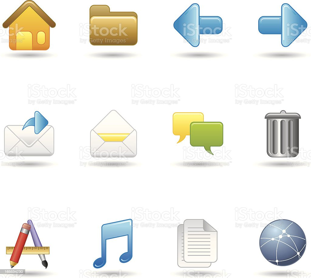 Handy Icons - OS & Applications royalty-free stock vector art