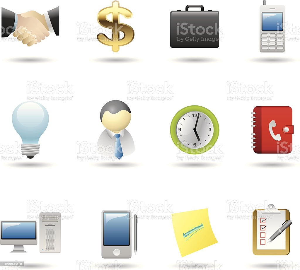Handy Icons-Business & Office royalty-free stock vector art