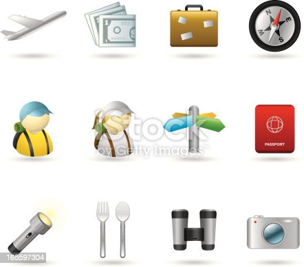 Icons travel & holidays set for your web page , presentation and print, fully editable. ZIP contain hires jpg, AI 10 & AI CS2.