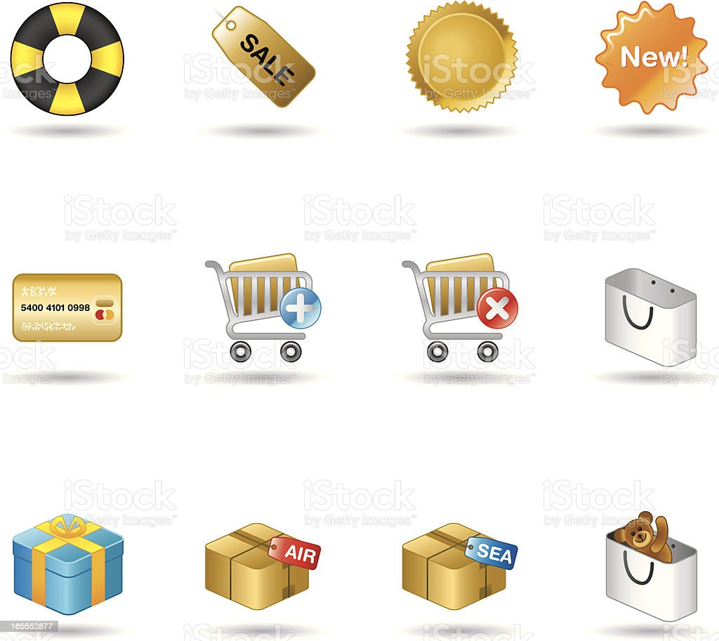 Handy Series Icons - Shopping royalty-free stock vector art