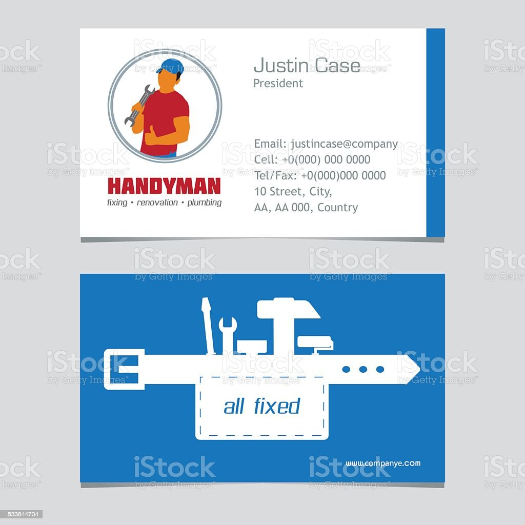 Handyman business sign business card template stock vector art handyman business sign business card template royalty free handyman business sign business card template fbccfo Choice Image