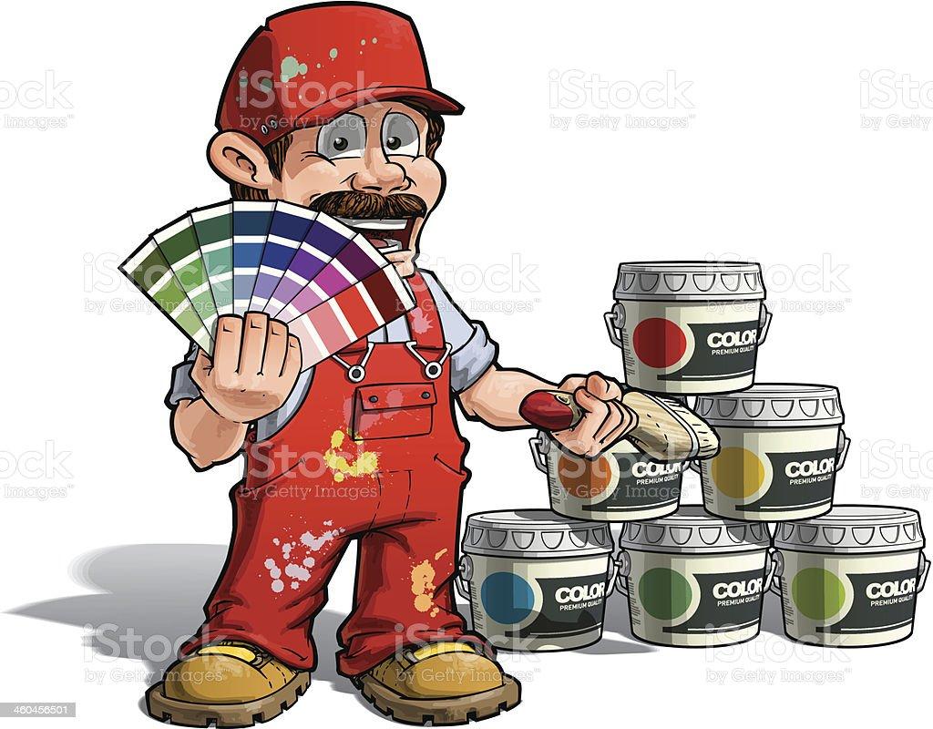 Tenue D Artiste Peintre bricoleur couleurs peintre rejoindre tenue rouge vecteurs