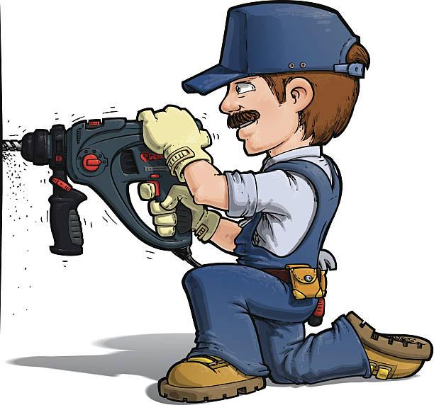 Výsledek obrázku pro drilling a hole cartoon