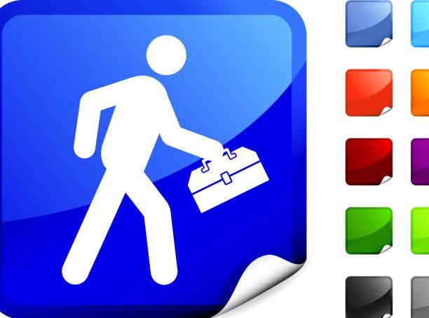 handyman internet royalty free vector art handyman  icon on sticker pipefitter illustrations stock illustrations