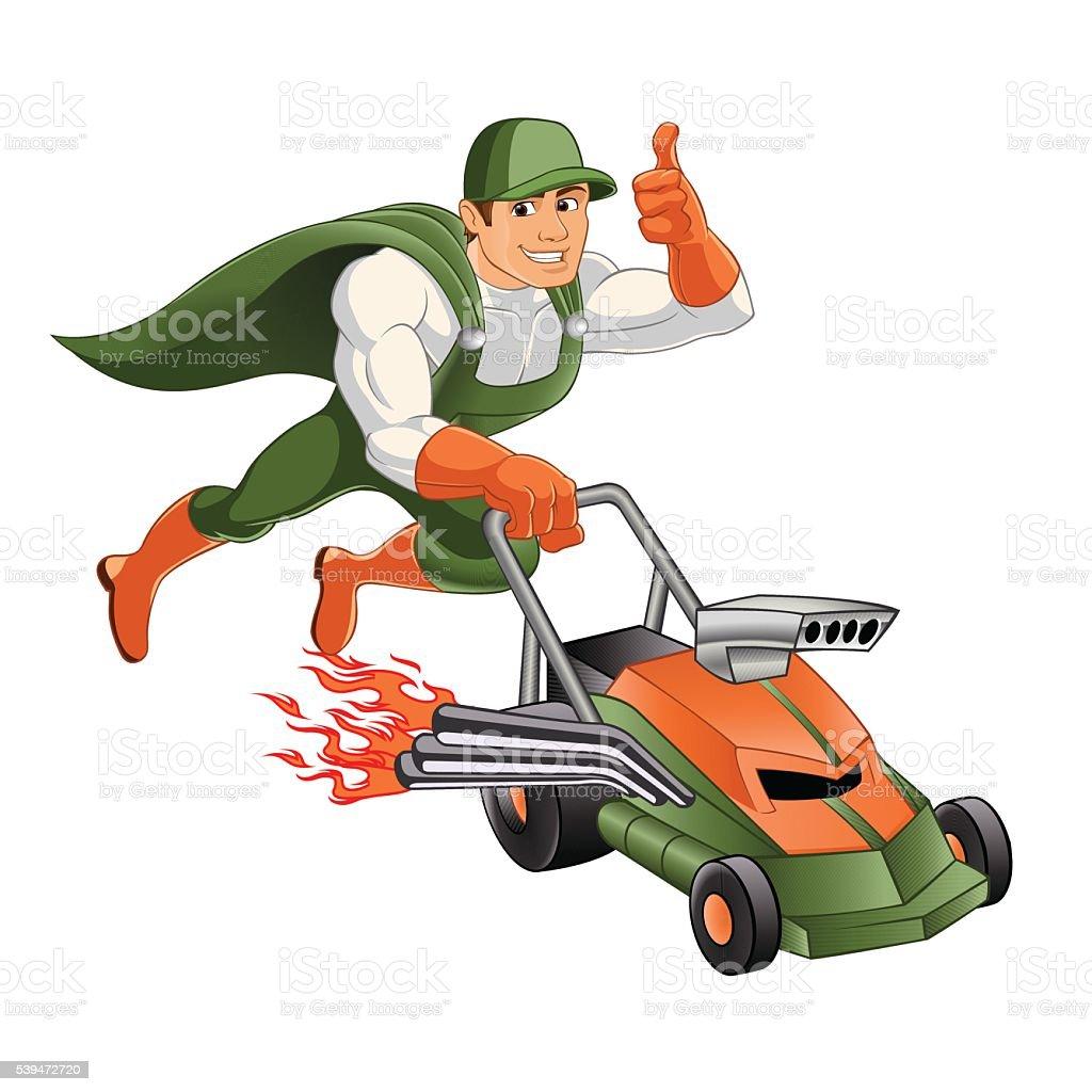 Handyman Lawn Mowerhero Handyman Stock Vector Art Amp More
