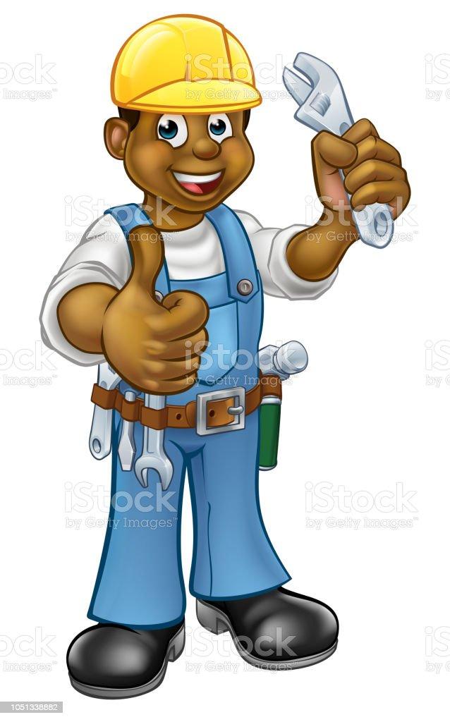 Handyman Mechanic or Plumber With Spanner royalty-free handyman mechanic or  plumber with spanner stock 23c31eacb559