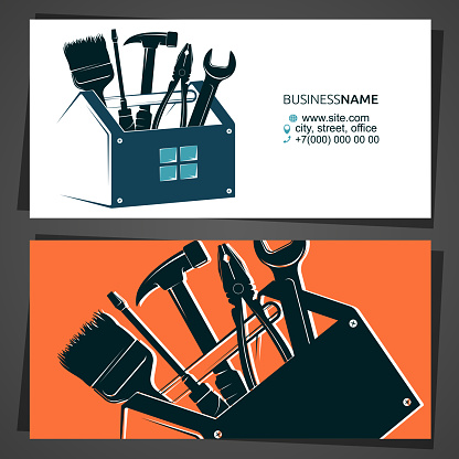 Handyman repair and construction business card