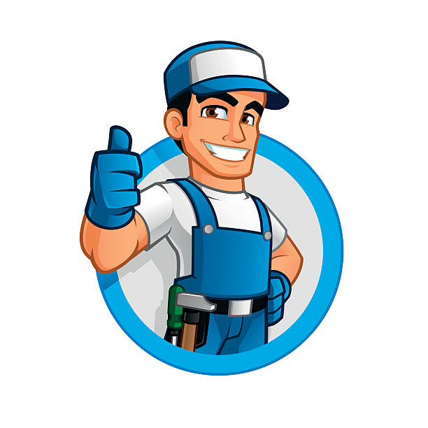 handyman - plumber stock illustrations, clip art, cartoons, & icons