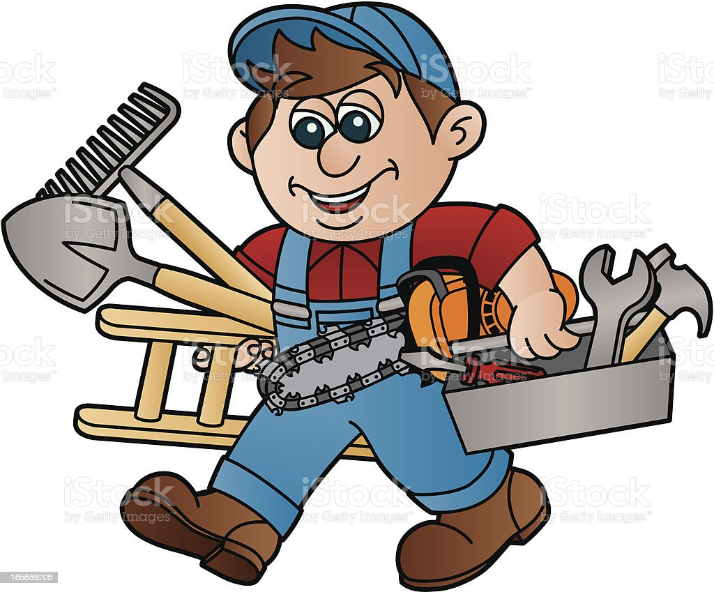 Handyman with Chainsaw royalty-free handyman with chainsaw stock vector art & more images of adult
