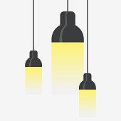 Hang ceiling cone lamp set