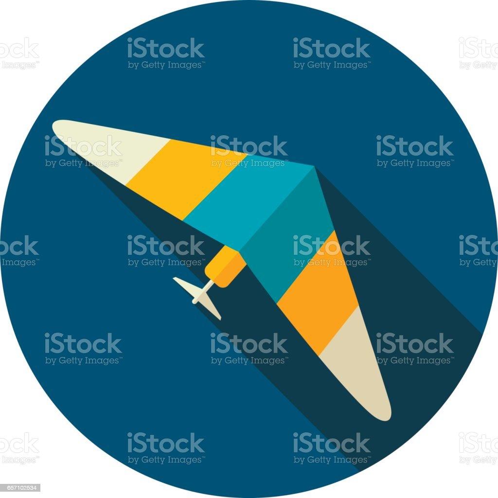 Hang Glider icon. Summer. Vacation vector art illustration
