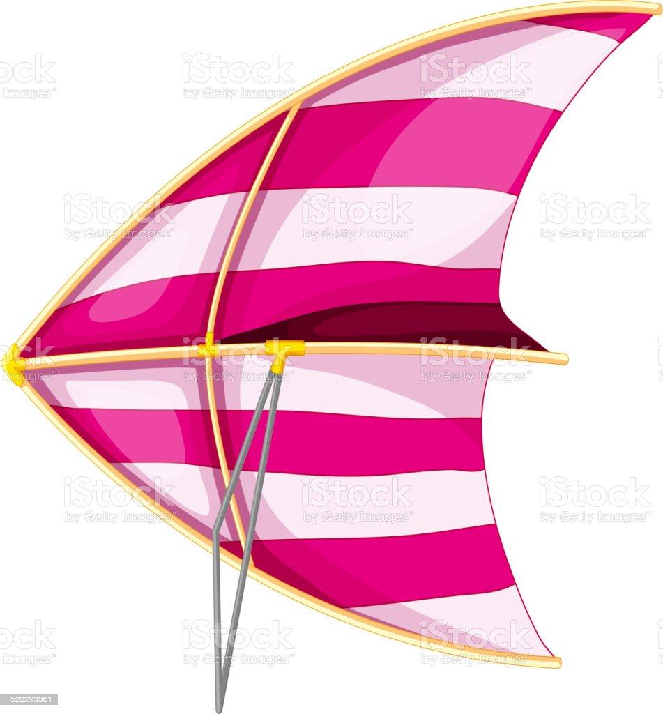 Hang glider vector art illustration