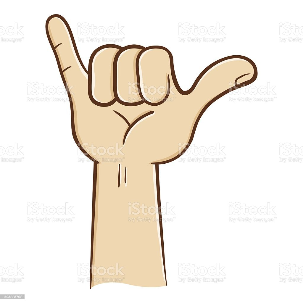 Hang Loose Hand Sign Stock Vector Art More Images Of Arts Culture