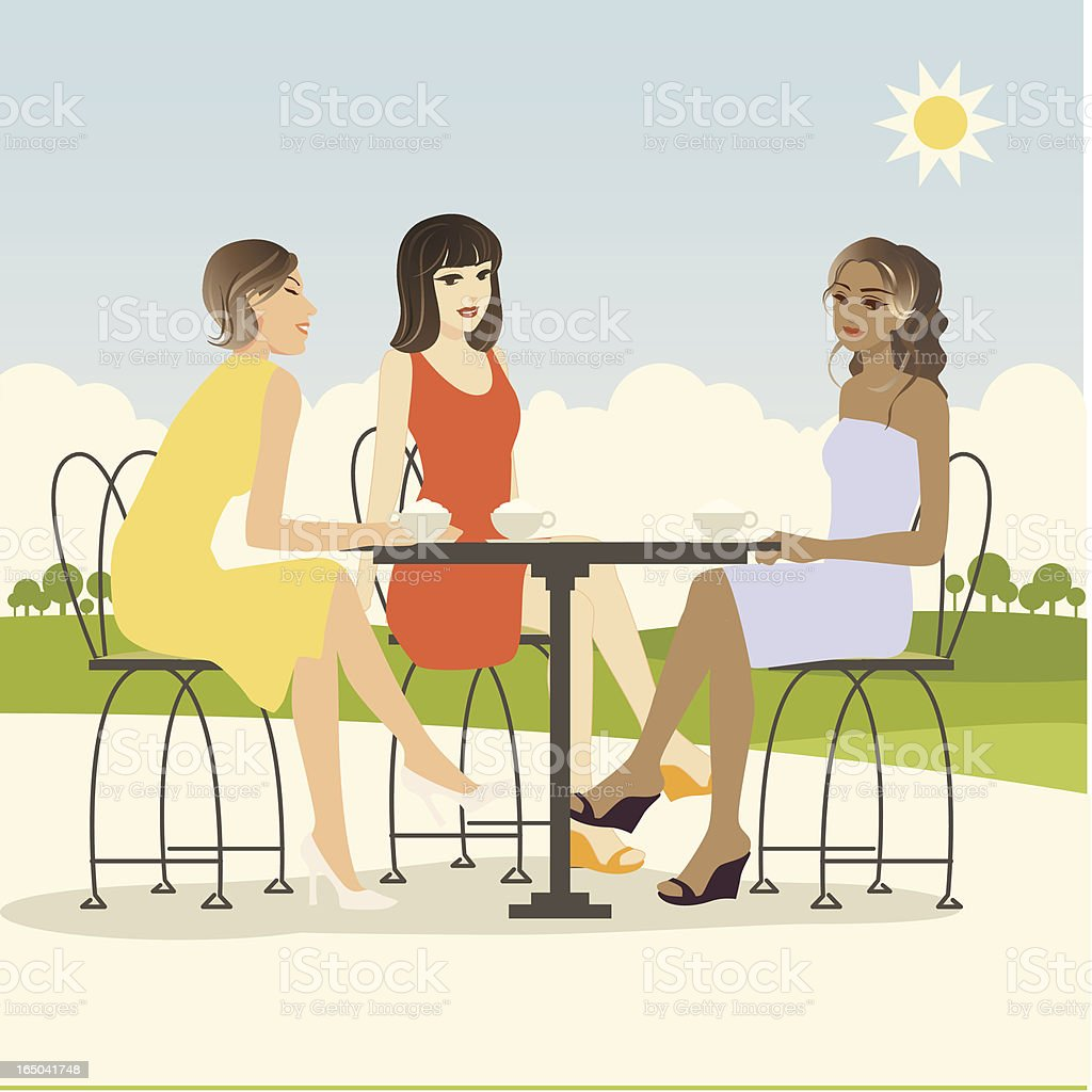 Hang out vector art illustration