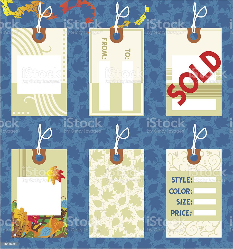 Hang tags design elements royalty-free hang tags design elements stock vector art & more images of autumn