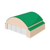 Hangar building cartoon icon
