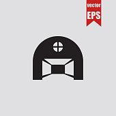Hangar icon.Vector illustration.
