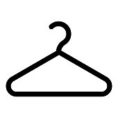 istock Hanger Clothes hanger icon black color vector illustration flat style image 1135554007