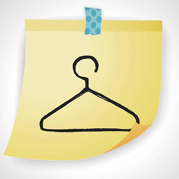 kleiderbügel gekritzel - bleistifthalter stock-grafiken, -clipart, -cartoons und -symbole