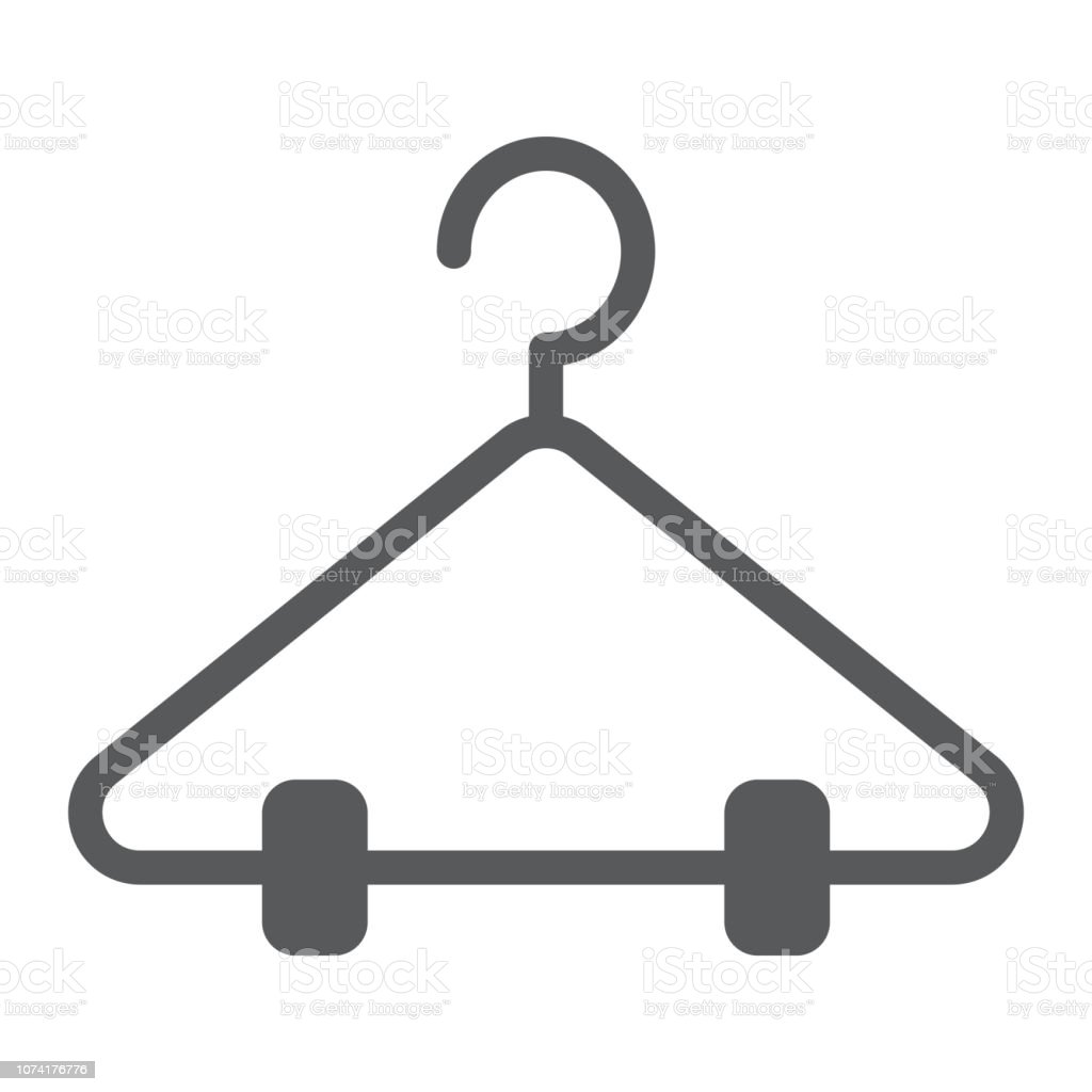Hanger glyph icon, closet and wardrobe, rack sign, vector graphics, a solid pattern on a white background. vector art illustration
