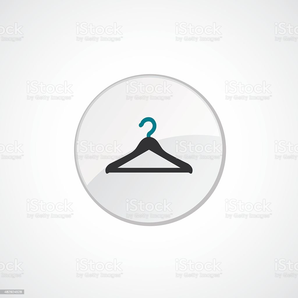 Hanger icon 2 colored vector art illustration