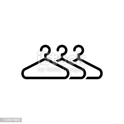 Hanger icon flat vector simple isolated illustration signage template design trendy