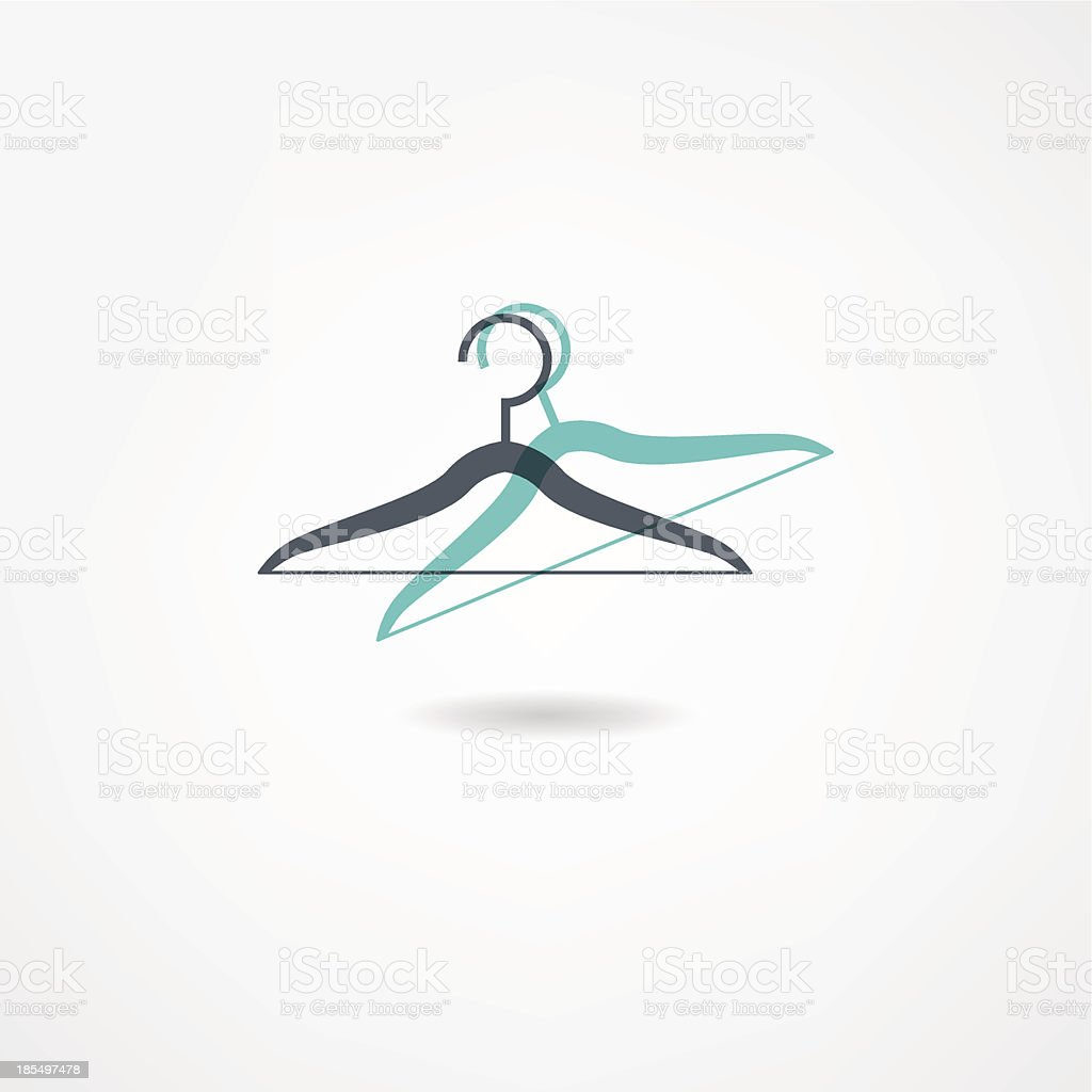 hanger icon royalty-free stock vector art
