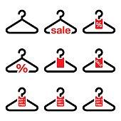 Hanger, sale, buy 1 get 1 free buttons set