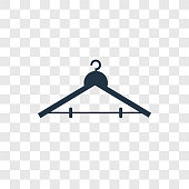 Hanger vector icon isolated on transparent background, Hanger transparency logo design