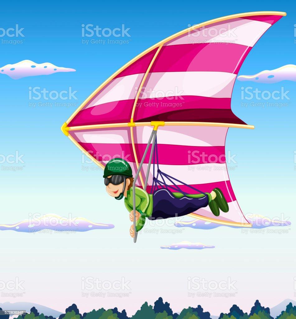 Hang-glider vector art illustration