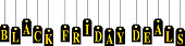 Vector illustration of black and gold hanging  black Friday deals tags.