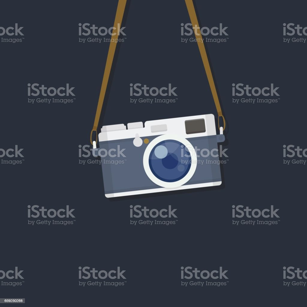 Hanging Camera vector art illustration