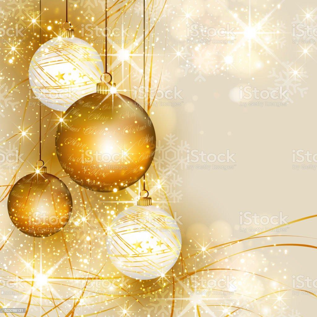 hanging weihnachten kugeln auf gold rot beleuchteten. Black Bedroom Furniture Sets. Home Design Ideas