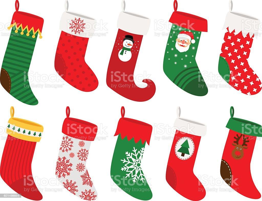 Hanging christmas socks stockowa ilustracja wektorowa