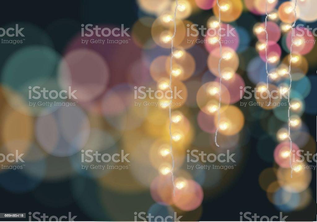 Bunt Hängelampen leuchtende – Vektorgrafik