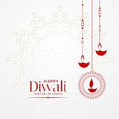 hanging diwali diya lovely festival background