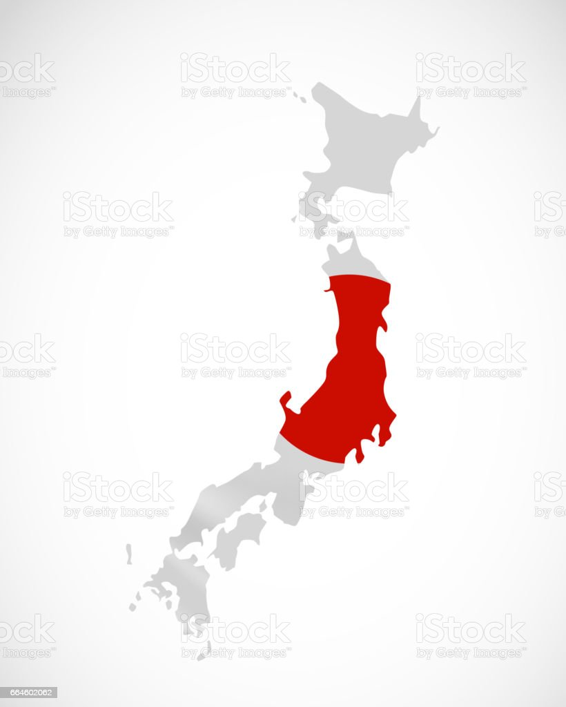 Hanging Japan In Form Of Map Japan Japanese National Flag Concept - Japan map flag