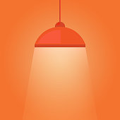 Hanging lamp luminous light