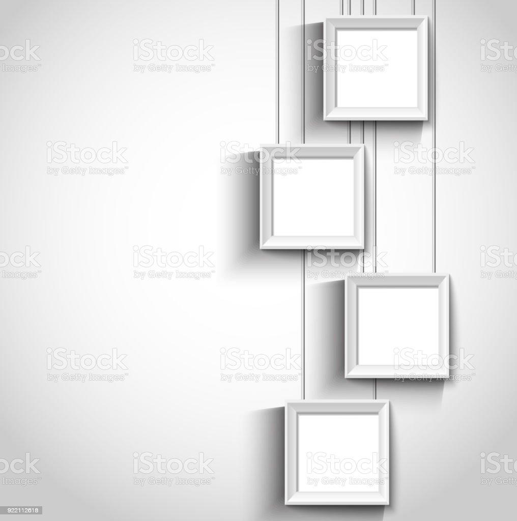 accrocher le cadre photo moderne – cliparts vectoriels et plus d