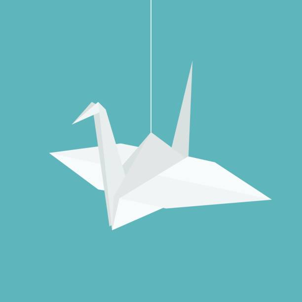 Royalty Free Origami Crane Clip Art Vector Images Illustrations