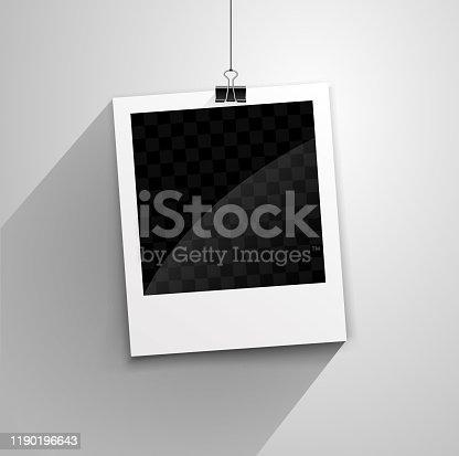 istock hanging polaroid 1190196643