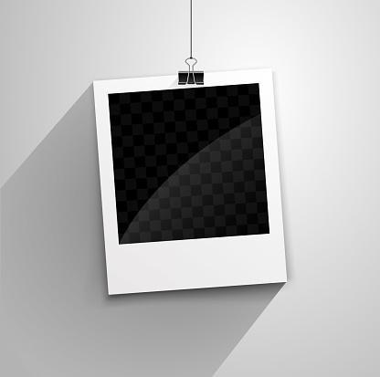 hanging polaroid