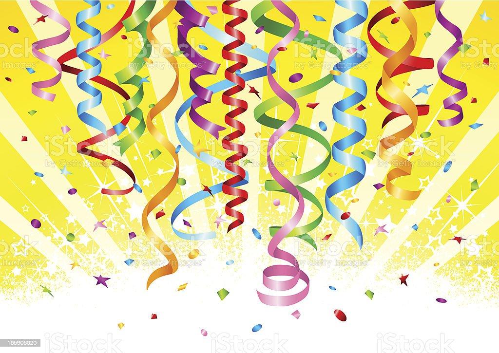Hanging ribbons royalty-free stock vector art