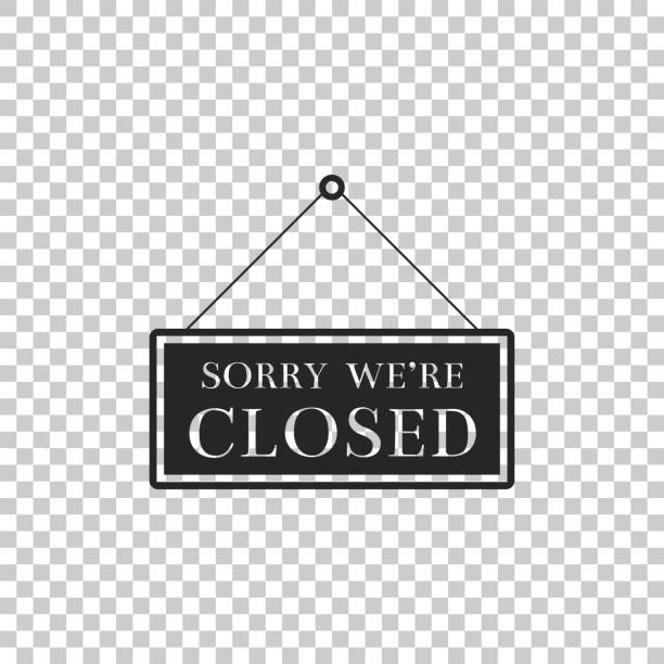 Best Sorry We're Closed Illustrations, Royalty-Free Vector