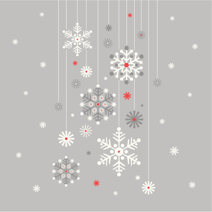 Hanging Snowflake on Silver