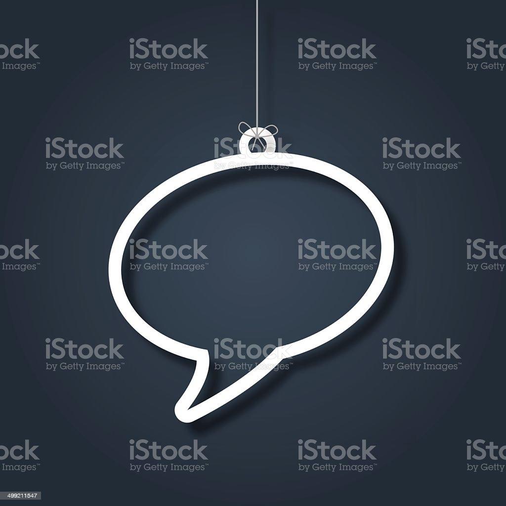 Hanging speech bubble vector art illustration